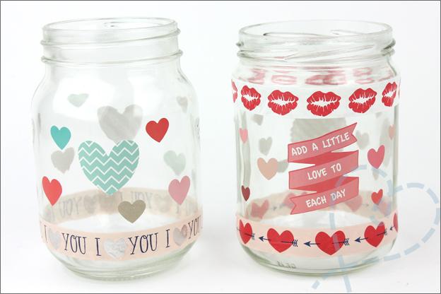 DIY Valentijnsdag cadeau makkelijk potjes versieren