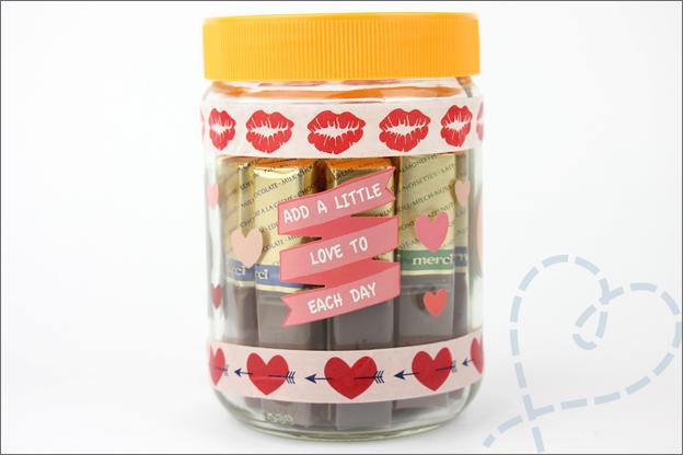 DIY Valentijnsdag cadeau persoonlijk merci chocolade