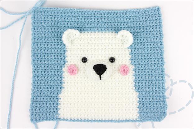 Haken wandhanger ijsbeer oren neus wangen ogen