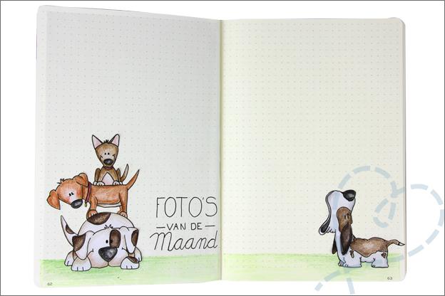 Bujo maart fotos maand honden tekenen