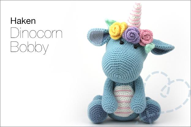 Haken Bobby Dinocorn amigurumi