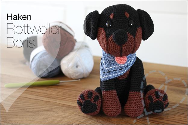 Haken hond rottweiler Boris Mykrissiedolls sokkenwol