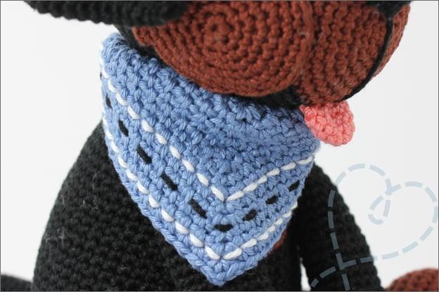 Haken hond rottweiler sjaal haakpatroon