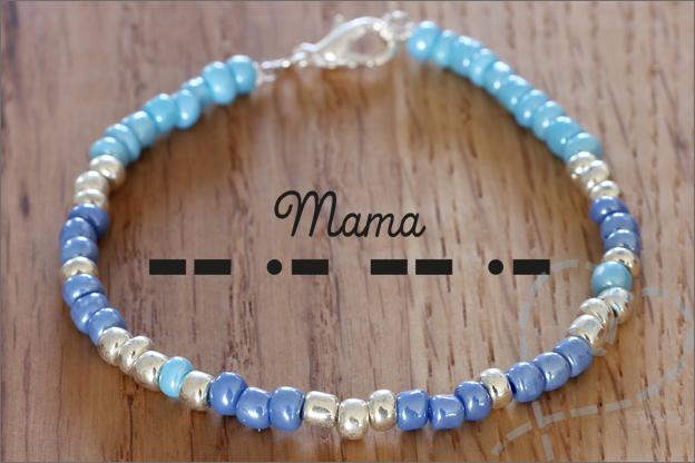Sieraden maken morse code woord mama