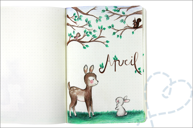 Bujo april bosdieren cover
