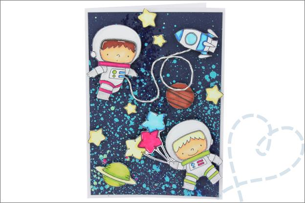 Kaarten maken MFT clear stamps Space