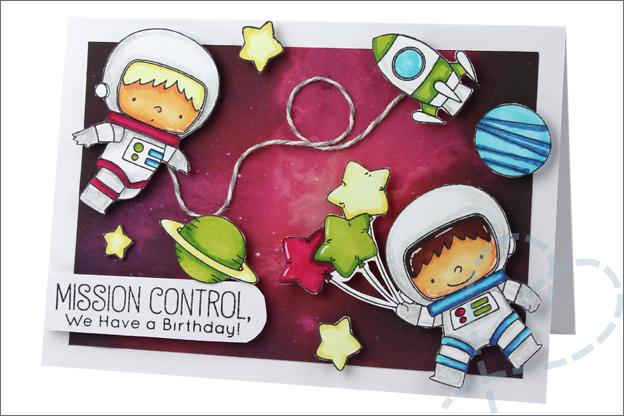 Kaarten maken ruimte astronaut