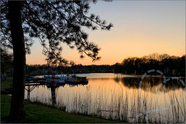 Vakantiepark het heijderbos zonsondergang