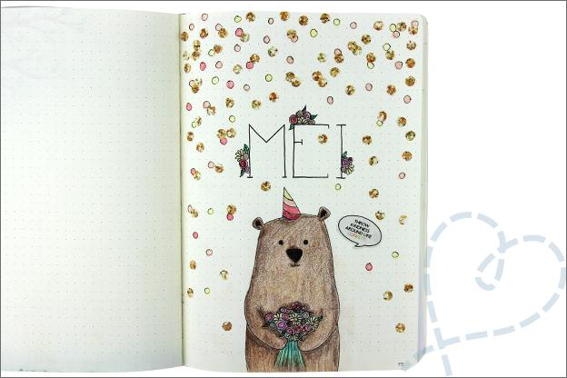 Bujo mei verjaardag cover beer feest