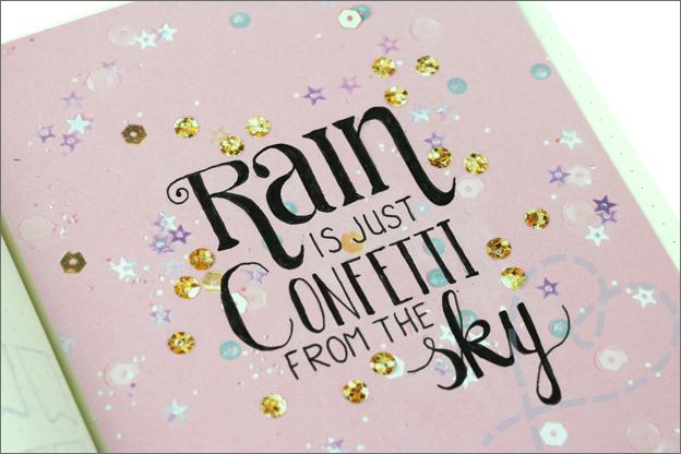 Bujo mei verjaardag quote confetti