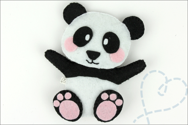 DIY Panda vilt eindresultaat