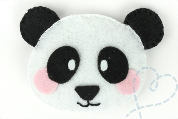 DIY Panda vilt hoofd gratis patroon