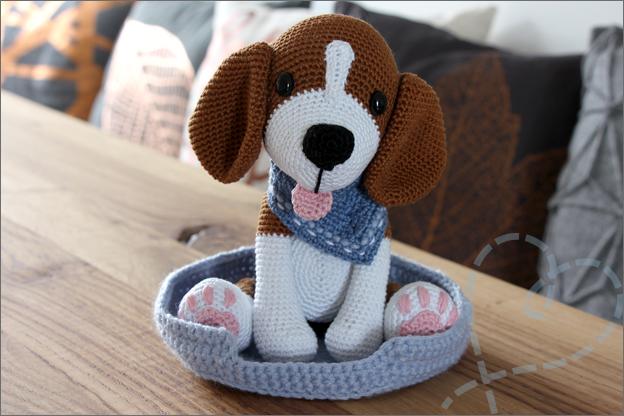 Haken beagle Bram MyKrissieDolls Eindresultaat