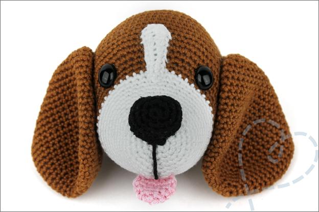 Haken beagle hoofd hond makkelijk