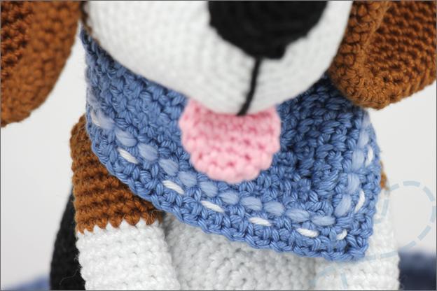 Haken beagle sjaaltje hond