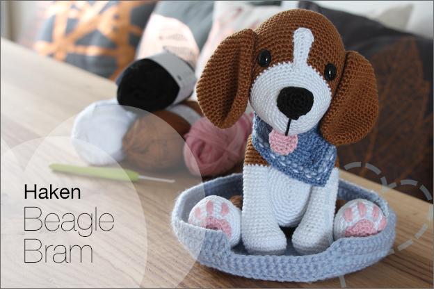 Haken hond beagle Bram MyKrissieDolls haakpatroon