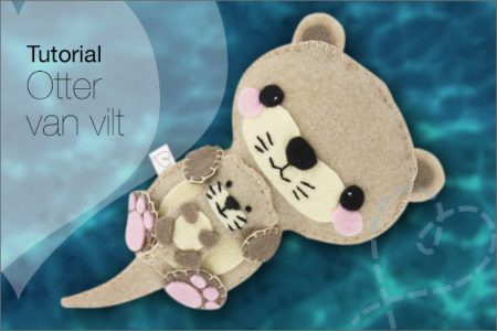 Tutorial #50: Otter van vilt, incl. gratis patroon