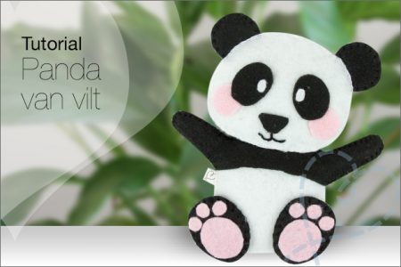 Tutorial #49: Panda van vilt, incl. Gratis patroon