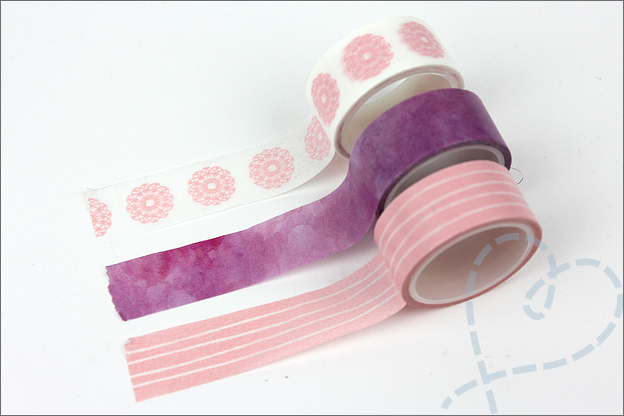 Washi tape DIY action aquarel