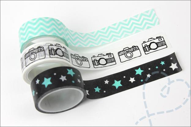 Washi tape DIY action getekend camera