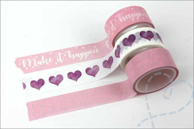 Washi tape DIY action hartjes
