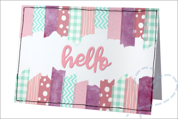Washi tape DIY action zelfgemaakte kaart
