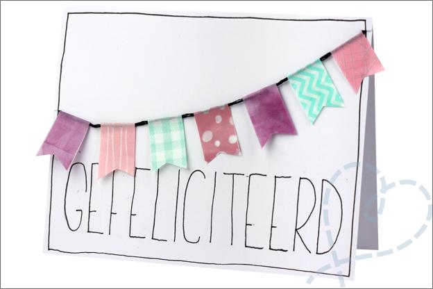 Washi tape vlaggetjes maken