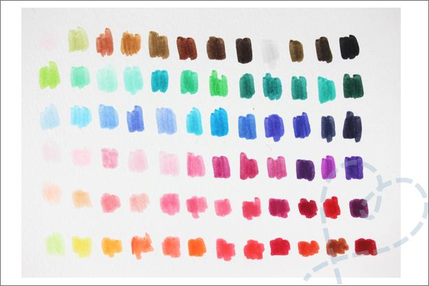 Action Decotime Aquamarkers kleuren voorbeeld