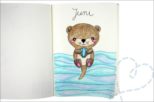 Bujo juni thema otter cover