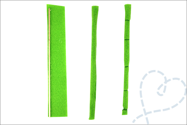 DIY panda borduurring bamboe vilt knutselen
