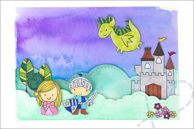 Kaarten maken ridders prinses thema uitleg