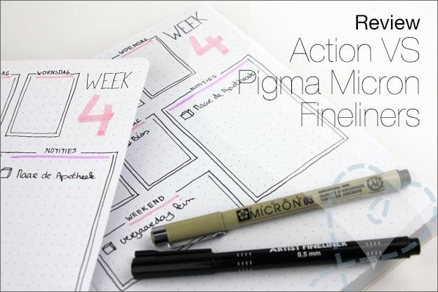 Review Action Fineliners Pigma micron vergelijken
