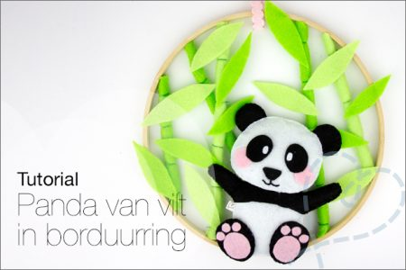 Tutorial #51: Panda van vilt in borduurring