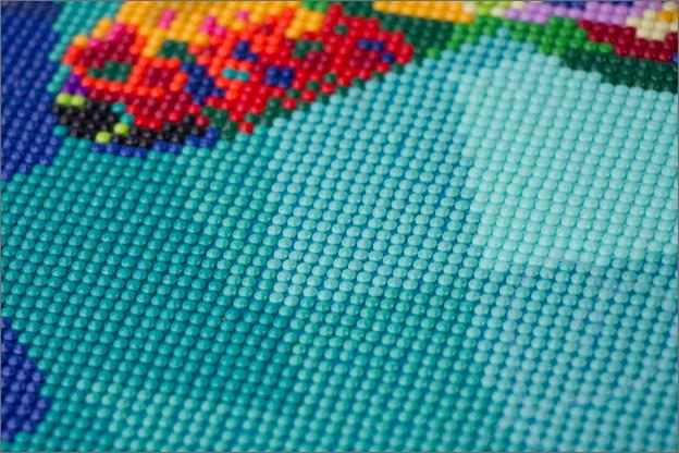 Action diamond painting blauwe tinten