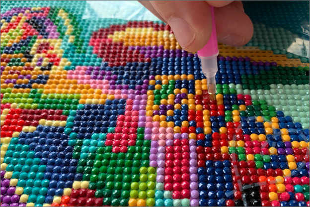 Action diamond painting steentjes kleurrijk