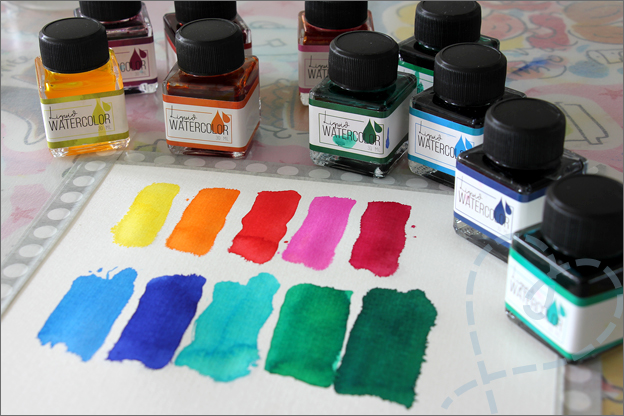 Action review liquid watercolor kleuren waterverf