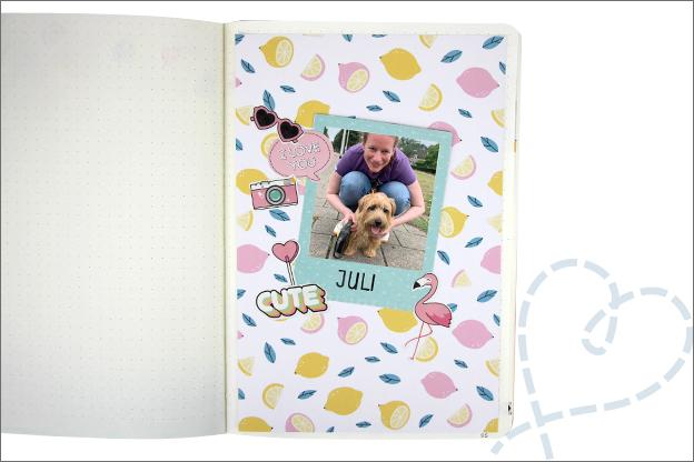 Bujo zomer thema juli cover foto