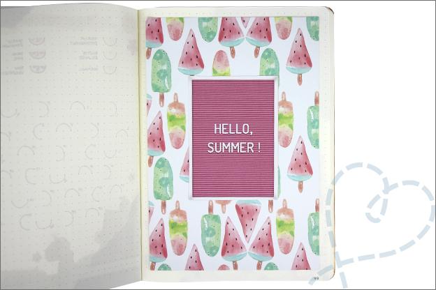 Bullet journal zomer thema juli inspiratie tekst