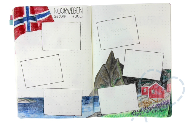 Bujo zomer thema juli vakantie noorwegen