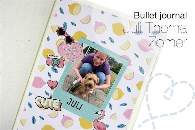 Bullet journal juli zomer thema inspiratie