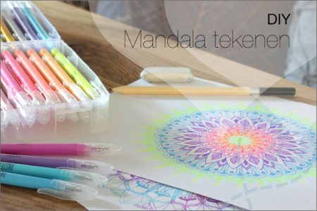 DIY #50: Mandala tekenen, incl. uitleg & printable basispatroon
