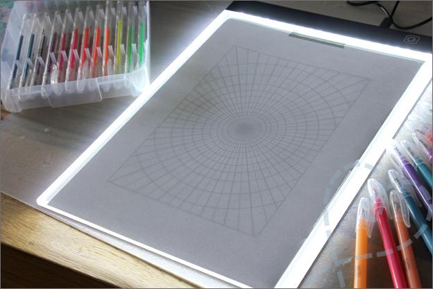 DIY Mandala tekenen lichtbox stramien