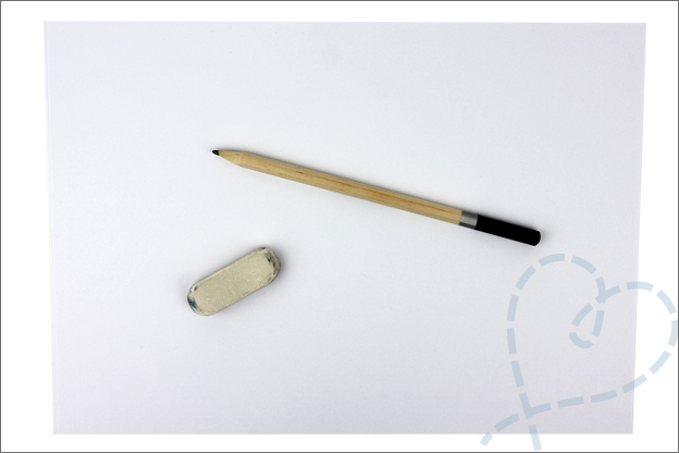 DIY Mandala tekenen papier potlood gum