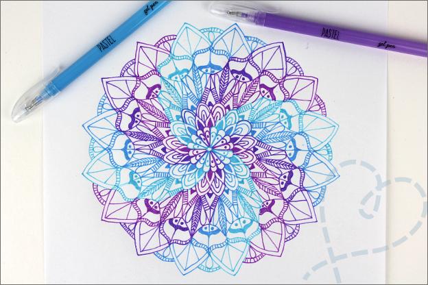 DIY Mandala tekenen spiraal