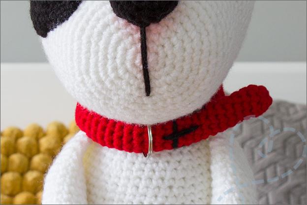Haken hond bulldog halsband