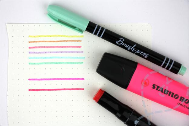 Kaarten maken brush pennen action doordrukken