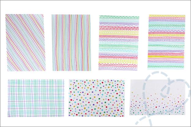 Kaarten maken design papier zelf maken