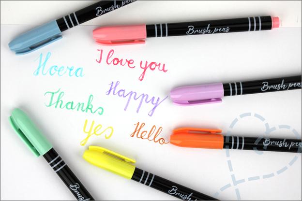 Kaarten maken oefenen basis Brush pennen Action