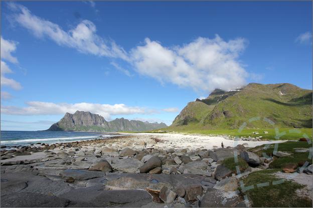 Vakantie verslag Noorwegen Uttakleiv beach
