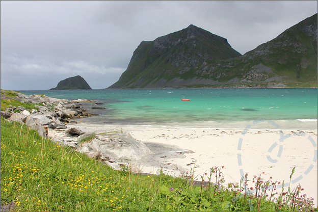 Vakantie verslag Noorwegen haukland beach